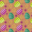 Easter background with eggs — Stock Vector