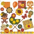 Scrapbook set with children objects - Stock Vector