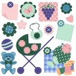 Royalty-Free Stock Vector Image: Scrapbook set with different objects