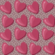 Royalty-Free Stock Vectorielle: Seamless pattern with hearts