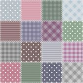 Patchwork background with different patterns — ストックベクタ