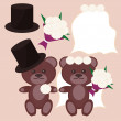 Royalty-Free Stock Vector Image: Nice bears bridegroom and bride
