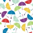 Stock Vector: Seamless background with umbrellas