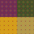 Four decorative background with colored circles — Vector de stock