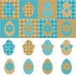 Easter eggs and flowers scrapbook on white — Stock Vector