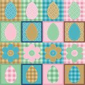 Easter wallpaper patchwork scrapbook — Stock Vector