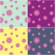 Royalty-Free Stock Immagine Vettoriale: Four seamless backgrounds with flowers