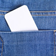 Royalty-Free Stock Photo: Tag in jeans pocket