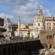 Cityscape of italian capital Rome - Stock Photo