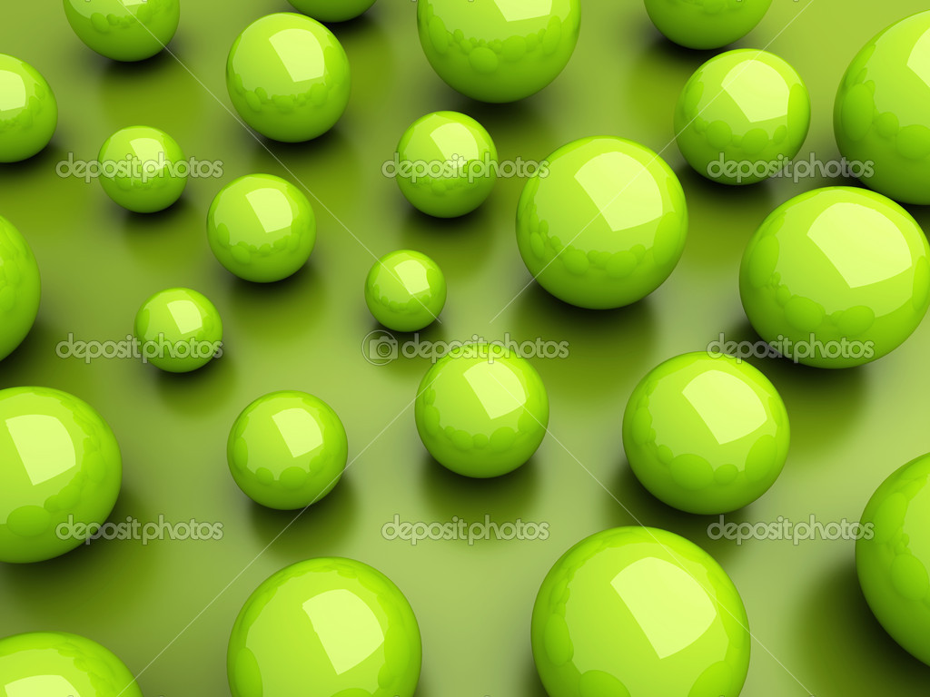 Background with many green spheres and space — Stock Photo #9316591