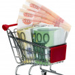 Shopping Cart with money — Stock Photo #10504676