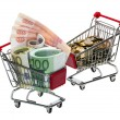 Shopping Cart with money — Stock Photo #10504688