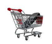 Shopping Cart with a cell phone — Stock fotografie