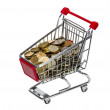 Shopping Cart with money — Stock Photo