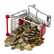 Shopping Cart with money — Stock Photo #9391211