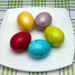 Coloured easter eggs — Stock Photo