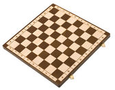 Empty chessboard isolated on white — Stock Photo