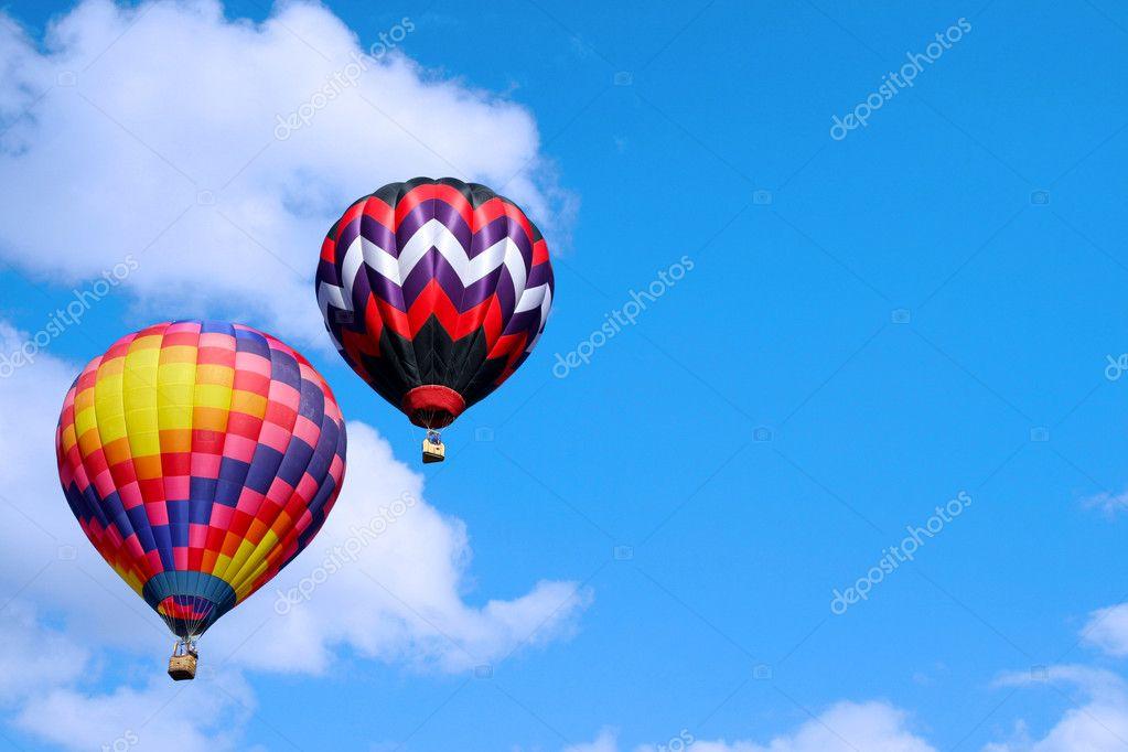 Hot Air Balloons in the sky — Stock Photo © papa42 #9062916
