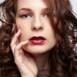 Beautiful brunette in jewellery — Stock Photo #10206857
