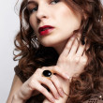 Beautiful brunette in jewellery — Stock Photo #10206871