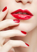 Beautiful woman's manicure — Foto Stock