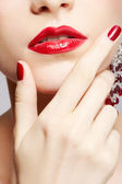 Beautiful woman's manicure — Foto de Stock