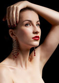 Hermosa mujer morena — Foto de Stock