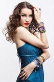 Beautiful brunette woman — Foto Stock