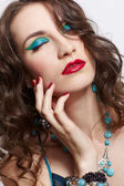 Piękna brunetka dama — Zdjęcie stockowe