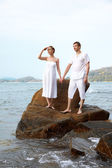 Romantic couple at beach — Stock Photo