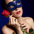 Stock Photo: Gorgeous woman in mask
