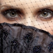 Gorgeous woman in veil — Stock Photo