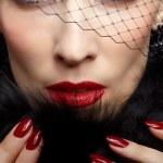 Gorgeous woman in veil — Stock Photo
