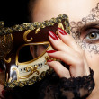 Gorgeous woman in mask - Stock Photo