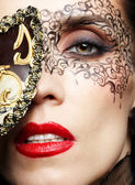 Gorgeous woman in mask — Stock Photo