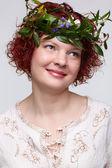Redhead woman — Foto Stock
