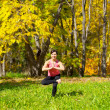 Yoga Vrikshasana Tree Pose — 图库照片 #8800719