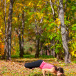 Yoga Padma mayurasana pose — Stock Photo