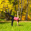 Yoga Ardha chandrasana pose — Stock Photo