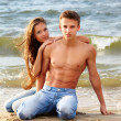 Couple at the beach — Stock Photo #8801356