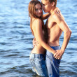 Couple at the beach — Stock Photo #8801394