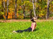 Jóga urdhva mukha shvanasana pozice — Stock fotografie