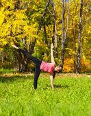 Yoga Ardha chandrasana pose — Stock Photo
