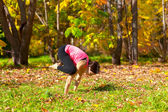 Posa di bakasana yoga — Foto Stock