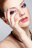 Detail krásnou dívku — Stock fotografie