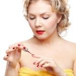 Woman making up manicure — Stock Photo #9348320