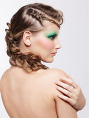 Woman with creative hairdo — Стоковое фото