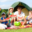 Family picnic - Foto Stock