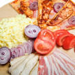 Pizzwith ingredient — Stock Photo #7967101