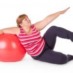 Fat woman fitness — Stock Photo #8437394
